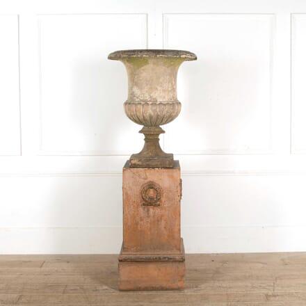 Large J M Blashfield Terracotta Garden Urn On Pedestal GA098411