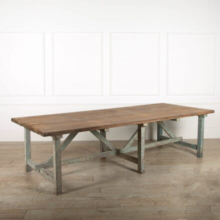 Large Original Painted Kitchen Dining Table OF098868