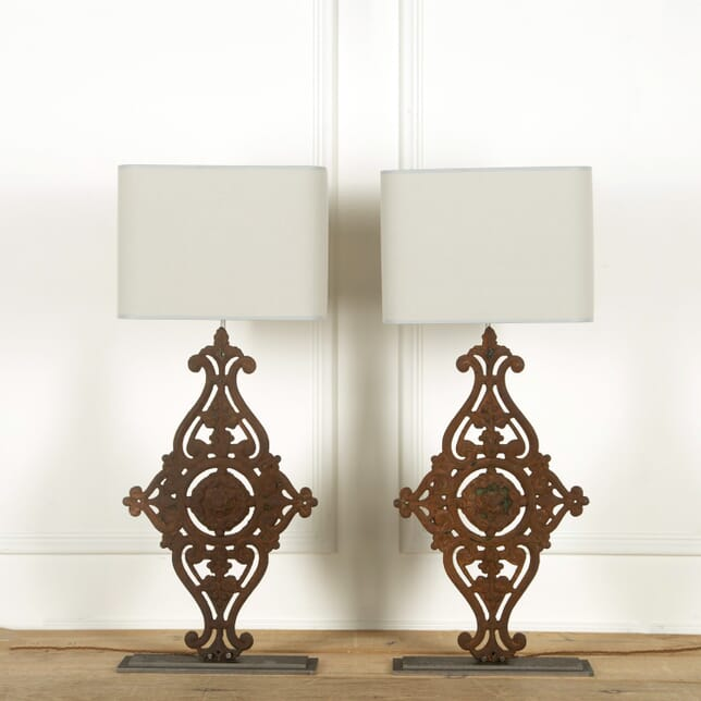 Large pair of 19th Century Balustrade Lamps LF608888