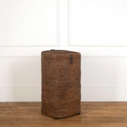 Large Storage Basket with Brass Lock DA908329
