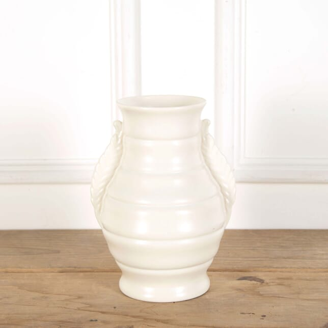 Large Twin Handled Art Deco Creamware Vase DA588614