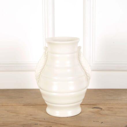 Large Twin Handled Art Deco Creamware Vase DA588614