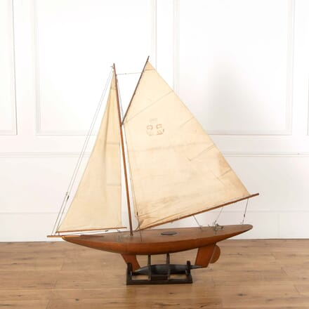 Large Wooden Pond Yacht DA558652