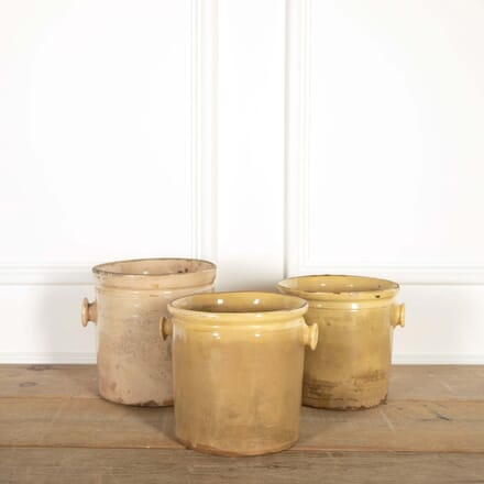 Large Yellow Pot with Handles DA448743