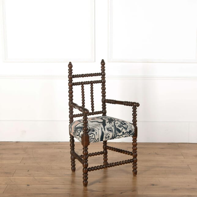 Late 19th Century English Wooden Bobbin Chair CH598542