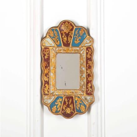 Late 19th Century Italian Giltwood Reverse Painted Venetian Mirror MI598544