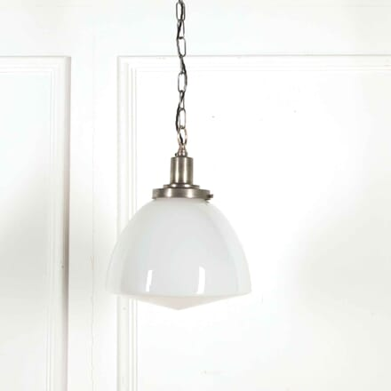 1950s Opaline Pendant with Original Silvered Gallery LC218057