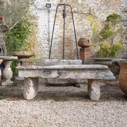 Limestone Garden Bench GA198025