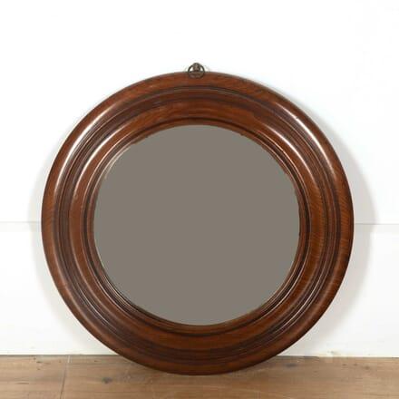 Mahogany Convex Mirror MI438390