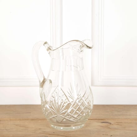 Massive 19th Century Cut Glass Water Jug DA588613