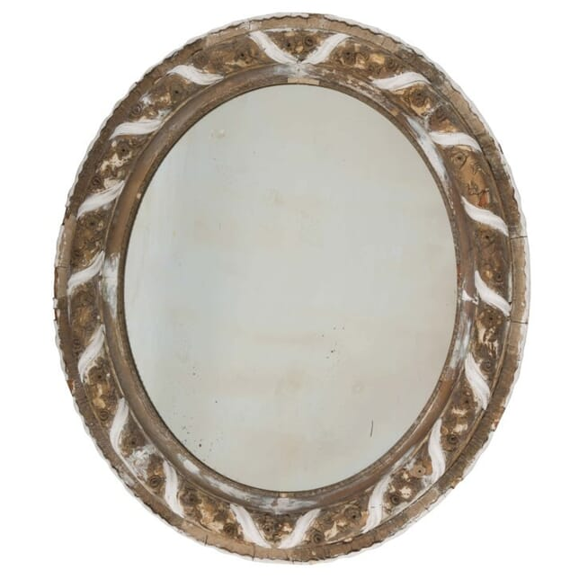 19th Century Italian Oval Mirror MI135969