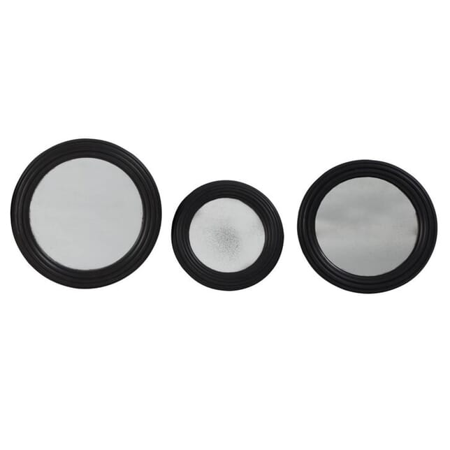 Contemporary Set of 3 Round Wall Mirrors MI139451