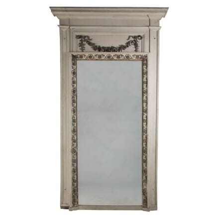 Large 19th Century French Trumeau Wall Mirror MI139973