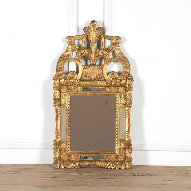 18th Century Crested Parclos Gilt Mirror MI718033