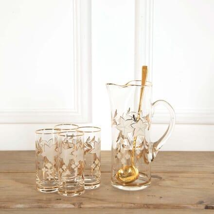 Mid Century Gold and Enamel Cocktail Jug Set DA588618