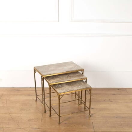 Nest of Brass and Marble Tables CT368266