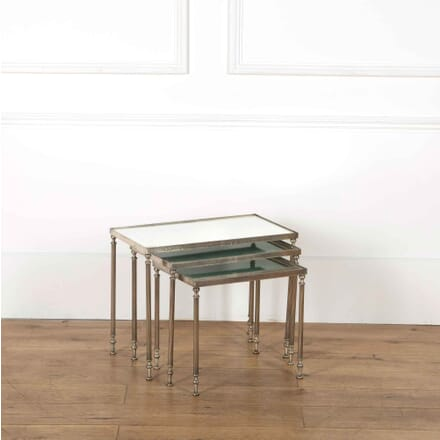 French Nest of Silvered Side Tables CT358082