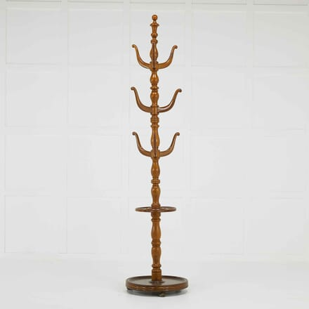 19th Century English Oak Umbrella and Hat Stand OF067631