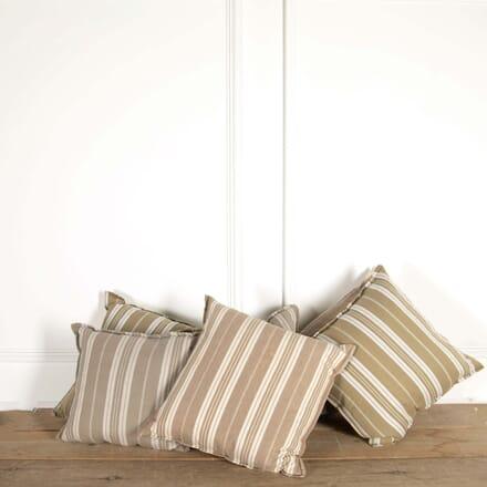 Old Ticking Fabric Cushion RT448738