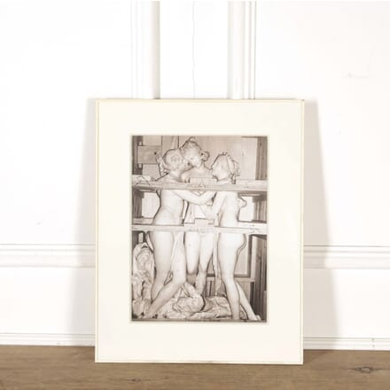 Original Photograph of a Crated Sculpture Group by Karl Lagerfeld WD298573