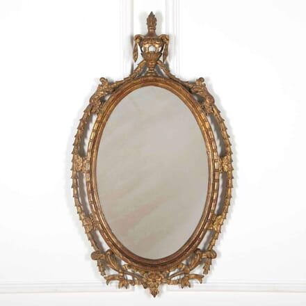 Oval Giltwood Mirror MI438093