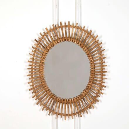 Oval Rattan Mirror MI638688