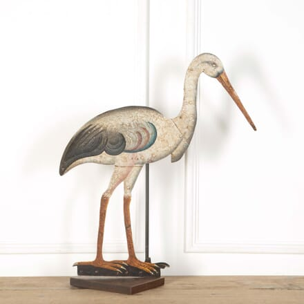 Painted Tin Heron DA368264