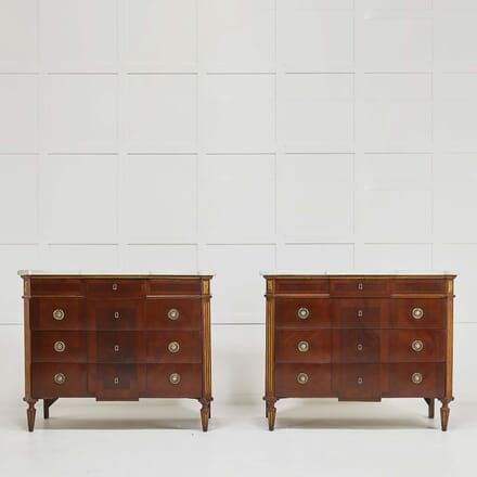Pair of 18th Century Spanish Commodes with Marble Tops CC068484