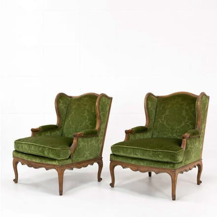 Pair of 1960s French Beech Armchairs CH068488