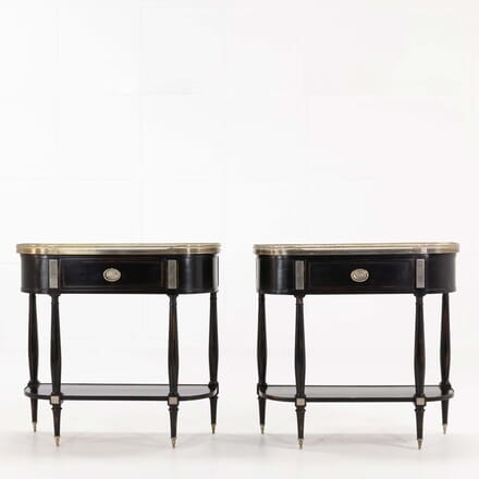 Pair of 1960s French Ebonised Console Tables CO068487