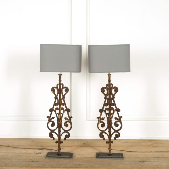 Pair of 19th Century Balustrade Lamps LT608887