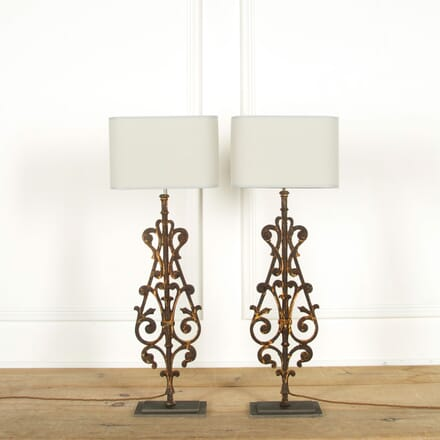 Pair of 19th Century Balustrade Lamps LT608892