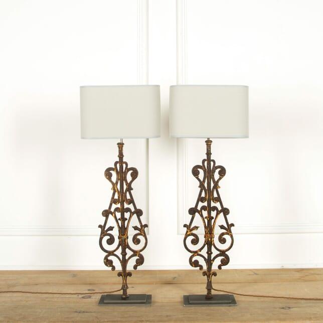 Pair of 19th Century Balustrade Lamps LT608892