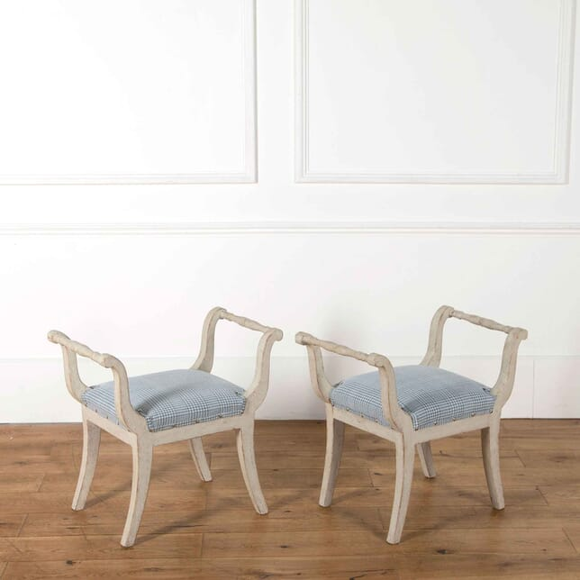 Pair of 19th Century Swedish Stools ST908088
