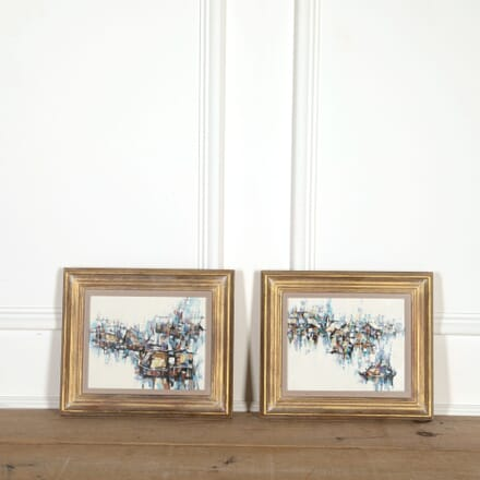 Pair of Abstract Paintings WD308997