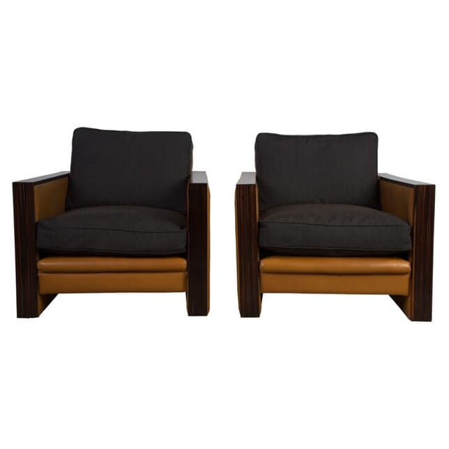 Pair of Art Deco Revival Armchairs CH158007