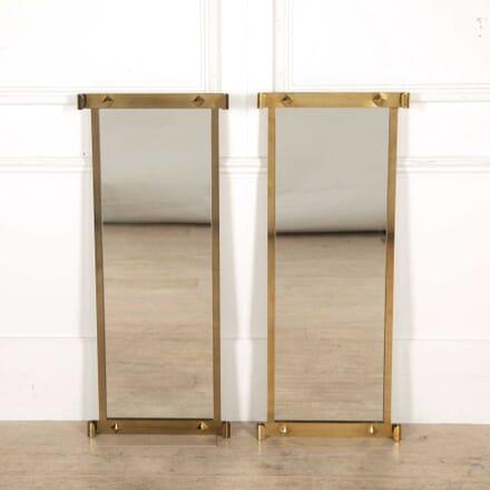 Pair of Brass Framed Mirrors MI308251