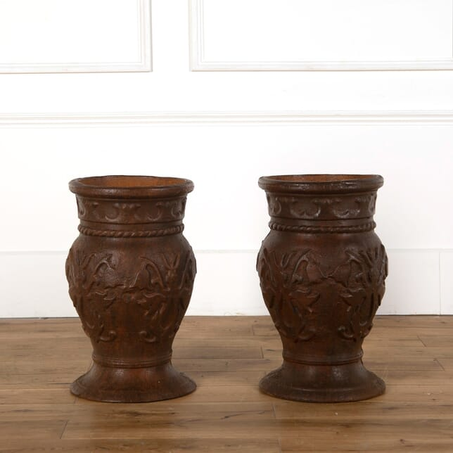 Pair of Cast Iron Planters GA438381