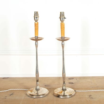 Pair of Chrome Table Lamps LT908721
