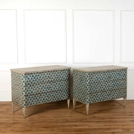 Pair of Italian Painted Commodes CC738393
