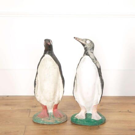 Pair of Composite Stone Penguins GA558658