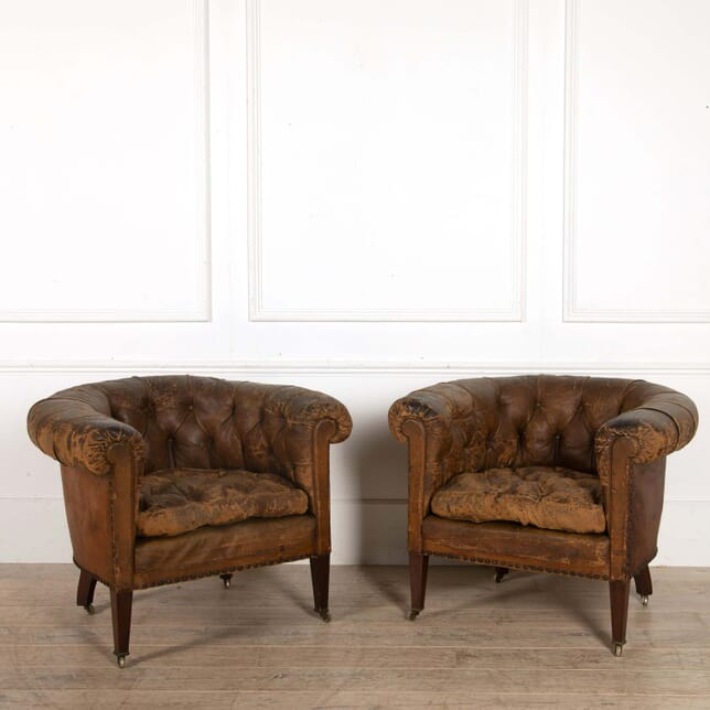 Pair of Country House Library Armchairs CH058506