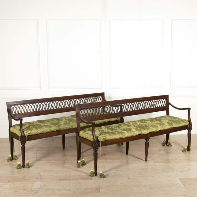 Pair of 18th Century French Directoire Benches SB288455