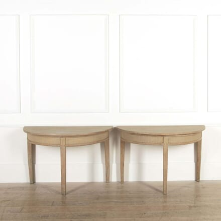 Pair of Early 19th Century Swedish Demi-Lune Console Tables CO448426