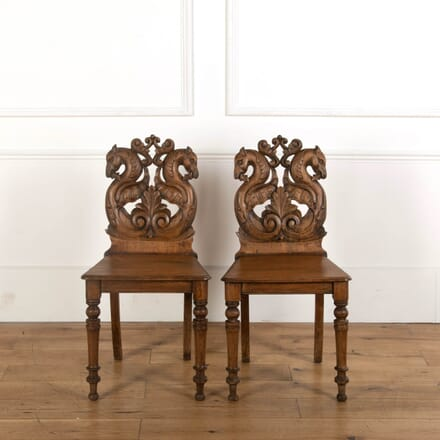 Pair of Early Victorian Hall Chairs CH748851
