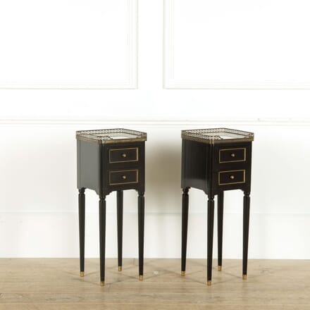 Pair of Ebonised Night Stands BD458992
