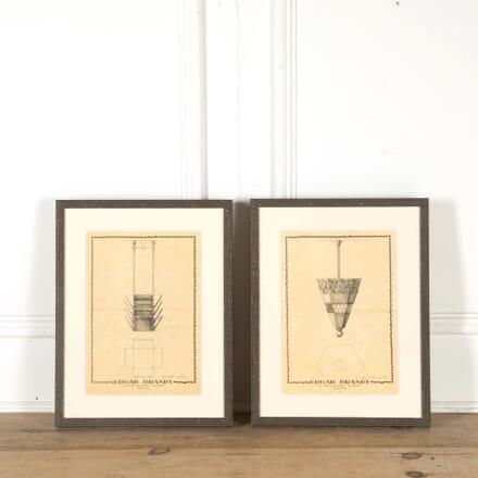 Pair of Edgar Brandt Drawings WD298440