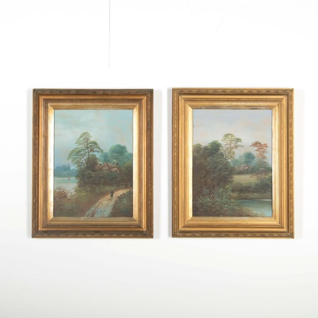 Pair of English Landscape Watercolours WD288519