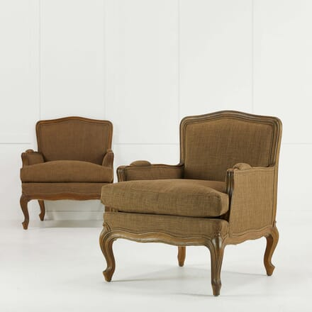 Pair of French Beech Armchairs CH068471