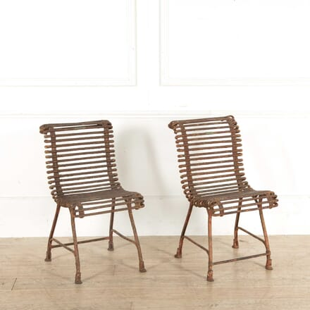 Pair of French Metal Chairs GA028186